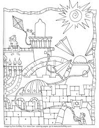 Coloring Page 9 Days Bible Learning Coloring Pages Jewish Art