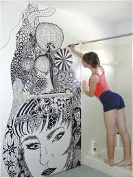 amazing look for painting bathroom tile for your home mind blowing wall painting by a girl in with painting bathroom tiles