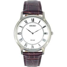 seiko men s solar classic brown leather watch product code sup869p1