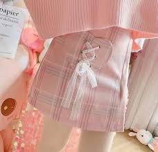 <b>Sweet</b> Pastel <b>Bow Tie Pink</b> & Blue Grid Skirt · sugarplum · Online ...
