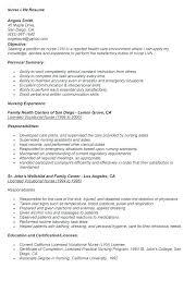 Lpn Resumes Examples Resume Template Sample New Nurse Resume