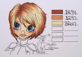 Blank Copic Hair Color Chart Hair Color 12 Shinhan