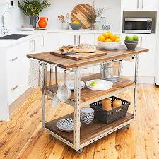 kitchen island mobile: diy mobile kitchen island or workstation steel shelving components