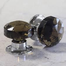 dark glass internal turning mortice door knobs