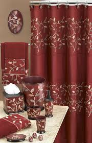 Bathroom Vanity Accessory Sets Aubrey Burgundy Bath Collection Shop By Collection Bathroom