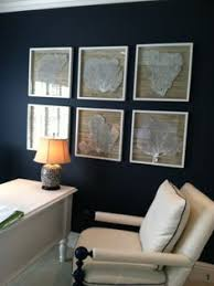 nautical office decor. Brilliant Decor Sea Fans Seashells Nautical Blue Wall For A Home Office Throughout Nautical Office Decor T