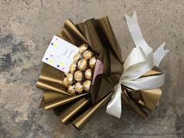 Ferrero Rocher Bouquet Designs Our New Wrap Design With Gold Ferrero Richie Bouquet