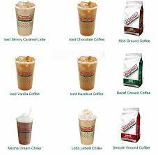 Krispy kreme coffee comes in a variety of rich signature blends, including espresso drinks. Krispy Kreme Menu Menu For Krispy Kreme Northwest Side San Antonio