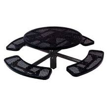 diamond black commercial park round table in ground