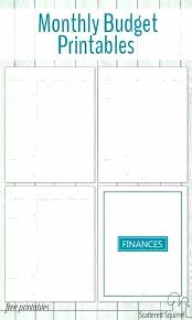 Budget Forms Pdf Free Personal Monthly Budget Template For Excel Spreadsheet