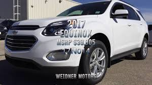 new 2017 chevrolet equinox 1lt awd white cloth unit 17n014 weidner motors ltd