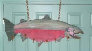 Fish Coat Rack Custom Large Wooden Fish Wall Coat Rack DiggersList