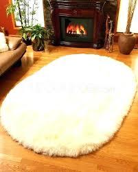 safavieh faux sheepskin rug sheepskin rugs faux fur shaped rug in ivory closeouts 3 5 safavieh safavieh faux sheepskin rug