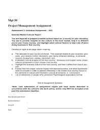 solution project management assignment assessment individual  project management assignment assessment 2 individual assignment 40% selected market cultural r