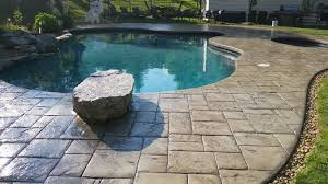 Stamped Concrete Pool Deck And Patio Sealed With AR350 By Foundation Armor  Traditional-patio Houzz a