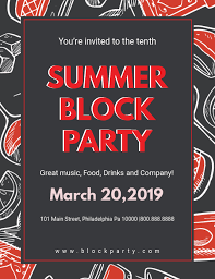 Block Party Flyer Dark Summer Block Party Flyer Template Postermywall