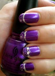 Purple nail art design - how you can do it at home. Pictures ...