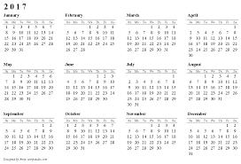 calendar 2017 landscape paper format image