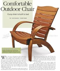 Comfortable Outdoor Chair Plans