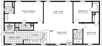 manufactured home floor plan the imperial model imp 45212a 3 bedrooms 2 exterior rendering jacobsen homes
