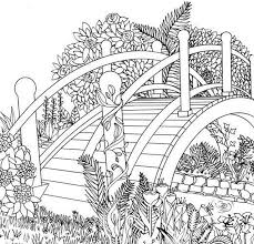 Using basic color theory in landscape and garden design. Coloring Pages Nature Landscape Forest Mountains Sea Island