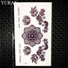 хна цветок роза временные татуировки геометрический карандашный набросок