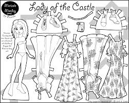 Small Picture Lady in a Castle A Paper Doll Coloring Page Printable paper