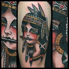 Indian Warrior Traditional Tattoo By Dap At Skingdom Tatto Flickr