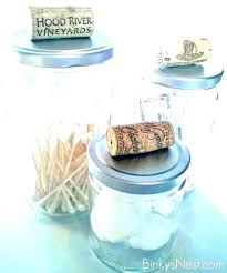 bathroom jars canisters canister glass set kitchen made from food corks for storage va glass jars for bathroom storage