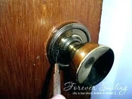 without key door locked outside how to install a bedroom door knob unlock door knob ho n0966335