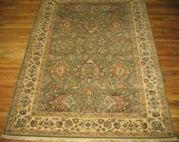 rug sage green tan cream federal