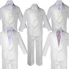 Light Purple Tuxedo Vest Leadertux 5 7pc Boy Teen White Shawl Lapel Party Suits