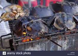 bbq king crab Stock Photo - Alamy