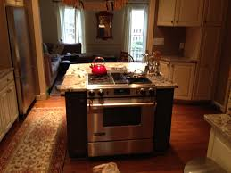 kitchen island with a built-in cooker