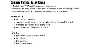 compare contrast essay topics google docs