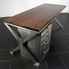 vintage metal office furniture. Amazing 28 Stylish Industrial Desks For Your Office Digsdigs Desk Furniture: Brilliant Vintage Metal Furniture