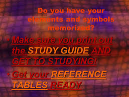 THE PERIODIC TABLE CH 5 Do you have your elements and symbols ...