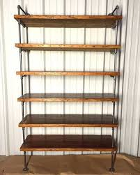 Shelving - Industrial Pipe Shelving With Antique Reclaimed Wood