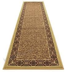 trellis border moroccan design printed slip resistant rubber back latex runner rug and area rugs more