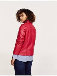 violeta womens plus size biker jacket red 46284 mc ping sites in low