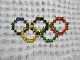 How To Make A Cross Stitch Pattern Delectable Olympic Rings Cross Stitch Pattern LulaBelle Handicrafts