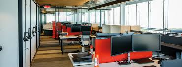 modern open plan interior office space. Open Office Floor Plan At McCarthy Tétrault LLP, Quebec City, Quebec, Canada Modern Interior Space O