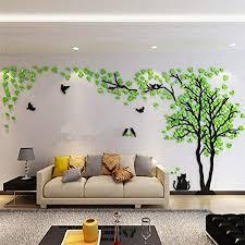 3d huge couple tree diy wall stickers crystal acrylic wall decals wall murals nursery living room