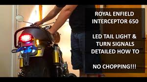 650 Light Royal Enfield Interceptor 650 Led Tail Light And Turn Signals Detailed Wiring How To