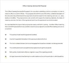 Cleaning Proposal Template Cleaning Proposal Template Luxury Bid Proposal Templates 15 Free