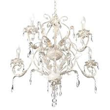 5 light antique white crystal chandelier kathy ireland lighting home