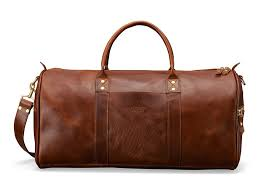 panelled leather and canvas duffle bag by montblanc 705