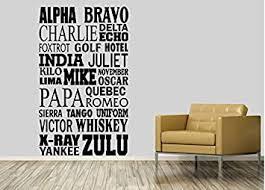 Links auf dieses wörterbuch oder einzelne übersetzungen. Nato Alphabet Home Decor Nato Phonetic Alphabet Alpha Bravo Charlie Tango Amazon De Baumarkt