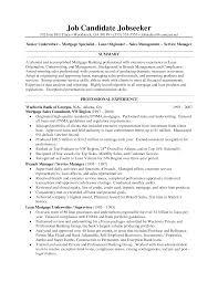 Underwriter Resume Sample Jobsxs Com
