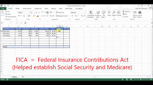 Payroll Calculator With Deductions Setting Up Payroll Deductions In Excel